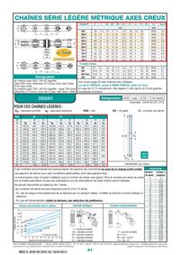 Page 41 : Chaînes série légère métrique axes creux