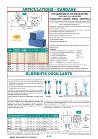 Page 419 : Articulations, cardans éléments oscillants Rosta