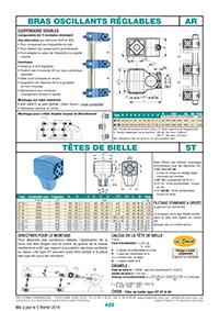 Page 422 : Bras oscillants réglables & têtes de bielles
