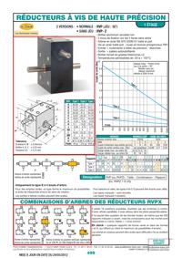 Page 499 : Réducteurs à vis de haute précision à 1 étage