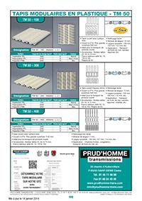 Page 59 : tapis modulaires en plastique