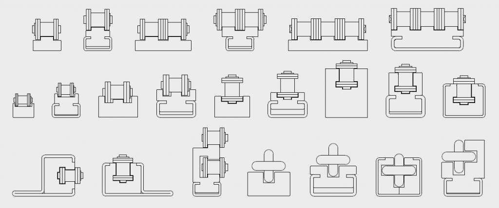 large gamme de guides de chaînes